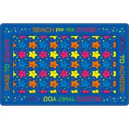 Reach for the Stars Educational Rug in Indigo