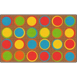 Sitting Spots in Muted Colors Educational Rug
