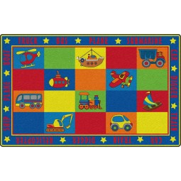 Vehicle Seating Educational Rug