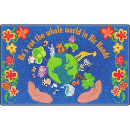 He's Got the Whole World in His Hands Faith-Based Rug
