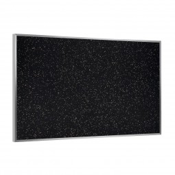 "ATR23-TN 24"" x 36"" Aluminum Frame Recycled Rubber Tackboard - Tan Speckled by Ghent"
