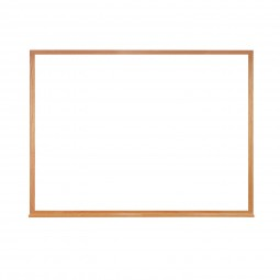 """M2W-18-1 18"""" x 24"""" Wood Frame Acrylate Whiteboard with 1 Marker & Eraser by Ghent"""