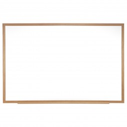 Ghent Wood Frame Painted Steel Magnetic Whiteboards - Multiple Sizes