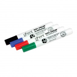 Ghent Set of 4 Dry Erase Markers - Blue, Black, Green, Red, or Assorted
