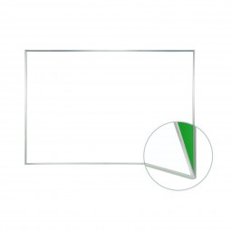 Porcelain Magnetic Renewal Whiteboard, Aluminum Frame, No Tray by Ghent