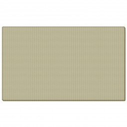 "Ghent TF14-90 12"" x 48"" Fabric Tackboard with Wrapped Edge - Beige"
