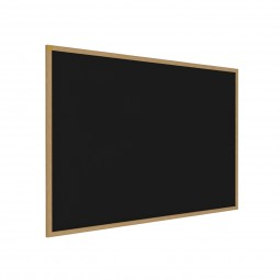 Wood Frame, Oak Finish Recycled Rubber Tackboards in Three Colors by Ghent
