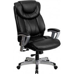 Signature Series 400 lb. Capacity Big & Tall Office Chair with Arms - Black Leather