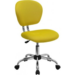 Mid-Back Mesh Task Chair with Chrome Base - 15 Seat Options