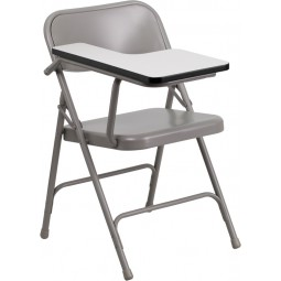 Premium Steel Folding Chair with Tablet Arm - Right Handed
