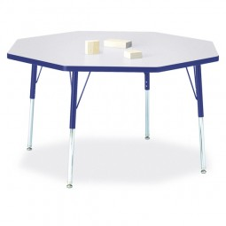 """Jonti-Craft Berries® 48"""" x 48"""" Octagon Activity Table - Select Height and Color"""
