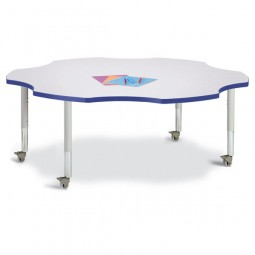 Jonti-Craft Berries® Mobile Six Leaf Activity Table - Select Color