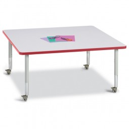 "Jonti-Craft Berries® Mobile 48"" x 48"" Square Activity Table - Select Color"