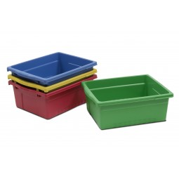 Large Open Tub Pack (4) - Blue, Green, Red, Yellow