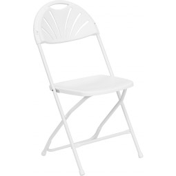 Signature Series 800 lb. Capacity Plastic Folding Chair - 4 Seat Options