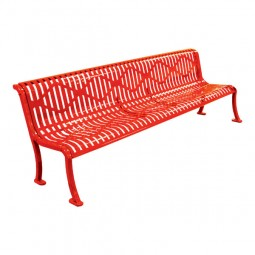 8' Armless Roll-Formed Diamond Bench