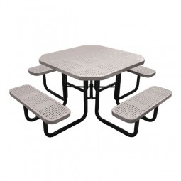 """46"""" Octagonal Perforated Metal Tables"""