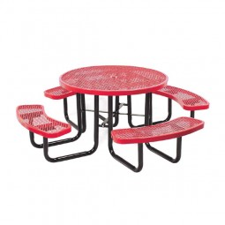 "46"" Round Expanded Metal Tables"