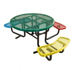 "46"" Round Expanded Metal Children's ADA Table"