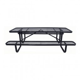8' Standard Expanded Metal Portable Picnic Table
