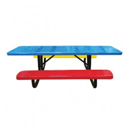 8' Perforated Metal Children's Portable ADA Picnic Table