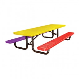 8' Expanded Metal Children's Portable Picnic Table