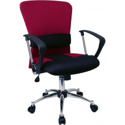Mid-Back Mesh Office Chair - Burgundy