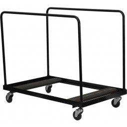 Black Steel Folding Table Dolly for Round Folding Tables