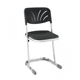 "NPS Elephant Z-Stool with Fan-Back Backrest - 18""H Blow-Molded Seat - 6618B"