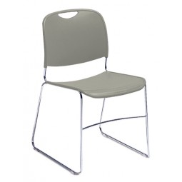 NPS Hi Tech Ultra Compact Plastic Stack Chair - Gunmetal Gray - 8502