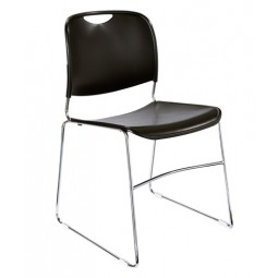 NPS Hi Tech Ultra Compact Plastic Stack Chair - Black - 8510