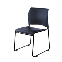 NPS Cafetorium Stack Chair - Blue Vinyl Seat - Blue Backrest - 8704-10-04