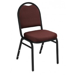 NPS Dome Stack Chair - Black Sandtex Frame - Rich Maroon Fabric Upholstery - 9258-BT