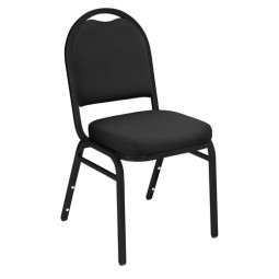 NPS Dome Stack Chair - Black Sandtex Frame - Ebony Black Fabric Upholstery - 9260-BT