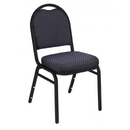 NPS Dome Stack Chair - Black Sandtex Frame - Diamond Navy Fabric Upholstery - 9264-BT