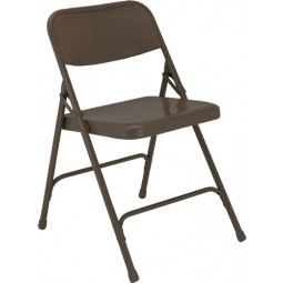 NPS Premium All Steel Folding Chair - Double Hinge - Brown - 203