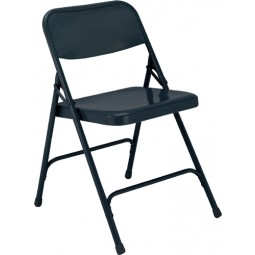NPS Premium All Steel Folding Chair - Double Hinge - Char-Blue - 204