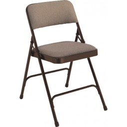 NPS Fabric Upholstered Premium Folding Chair - Russell Walnut Fabric - Brown Frame - 2207