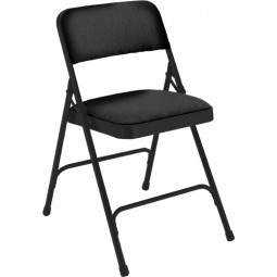 NPS Fabric Upholstered Premium Folding Chair - Black Fabric - Black Frame - 2210