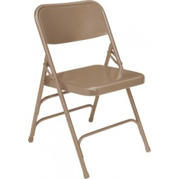NPS Premium All Steel Folding Chair - Triple Hinge - Beige - 301