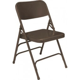 NPS Premium All Steel Folding Chair - Triple Hinge - Brown - 303