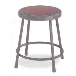 NPS 6200 Series Gray Lab Stools with Round Hardboard Seat - Three Fixed Heights