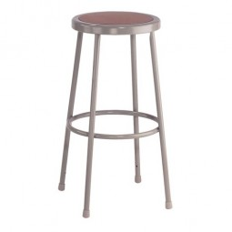 "NPS Gray Lab Stool with Round Hardboard Seat - 30"" Fixed Height - 6230"