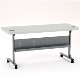 "NPS  24"" x 60"" Flip and Store Blow-Molded Table - BPFT-2460"