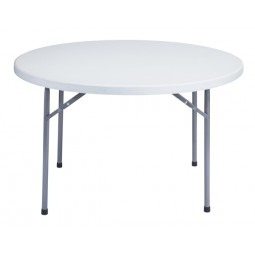 """NPS 48"""" Round Blow-Molded Folding Table - BT-48R"""