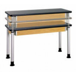 "Adjustable Height Table, 60""W x 27""H x 24""D - 2 Top Types"