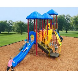 UPlayToday UPLAY-012-P Rainbow Lake Play Structure for Ages 5-12 in Playful Colors