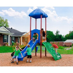 UPlayToday UPLAY-001-P South Fork Play Structure for Ages 2-5 or 5-12 in Playful Colors