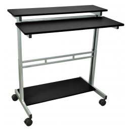 "Luxor STANDUP-40-B 40"" Adjustable Stand Up Desk - Black Top"