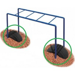 UPlayToday 02-01-0025 Tire Boost Package for Junior Horizontal Ladder for Ages 2-5